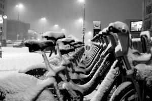 Bikes in Snow 2 by eclareee