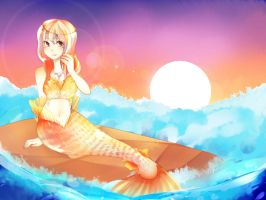 Sunset Mermaid by niaro