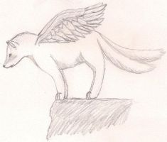 Shaded Winged Wolf by LotusTwister