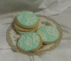 Brush Embroidery Cookies by MadameThibodeau