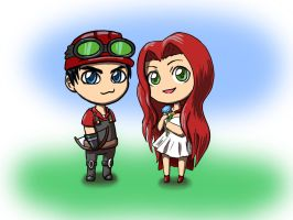 Vechs and Aureylian by DazeDawning