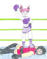 Boxing -  Jinx vs Madame Rouge by Jose-Ramiro