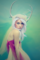 White Deer by OpheliaFairie