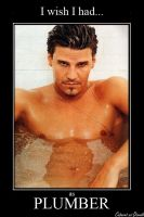 David Boreanaz as Plumber by CABARETdelDIAVOLO