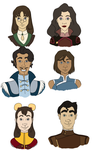 Bunch of Korra Dumbies by chikajin