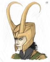Loki sketch by NatalieDeCorsair