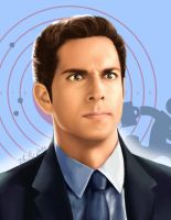 Chuck Bartowski - funny face by TomsGG