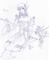"Elven Enchantress ""Sketch"" by shanku"