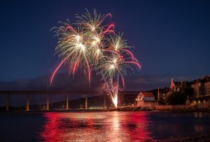 Fireworks over South Queensferry, Scotland. by BusterBrownBB