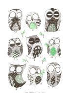 Spring Owls by Ripplen