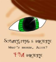Alice's broken eye by Feline-Jaye