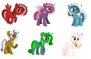 ~Birthstone Ponies Adopts 1/2~ CLOSED by IIbukiMioda