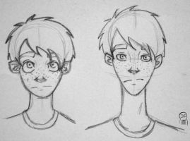 Ron Study (1st year and hm...older) by Bahelen