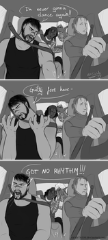 Hawke's never gonna dance again by Cicide76536