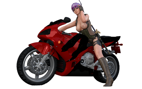 On a motorcycle (Other) by Trahtenberg