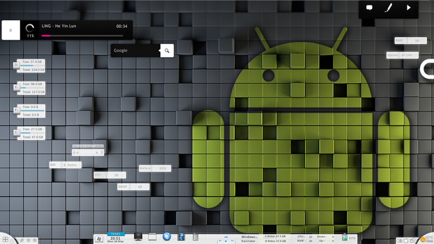 Android Minimalist Desktop by citoela