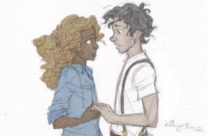 Leo and Hazel - face to face (burdge-bug) coloured by LadyRiverwolf