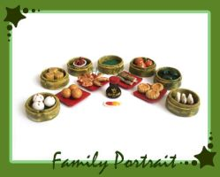 Dim Sum Family Portrait by HanaClayWorks