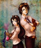 P3 - Jamie and Ellie - Gears and Potions by MaraAum