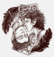 Gansey and Blue - The Raven Boys by RoItsSomething
