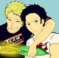 Todd Haberkorn and Vic by oceanrabbits