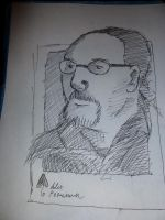 Will at Crypticon Quick Drawing by Poorartman