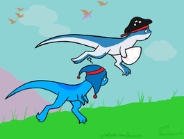 DINO RUN - Bitey and Yarr by ShinyVulpix