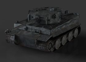 Tiger tank low poly by Akiratang