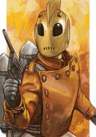 Daily Sketches the Rocketeer by fedde