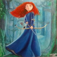 Merida painting - 2013 by andrecamilo20