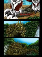 Attack On Monster Island Page 3, Commission by kaijukid