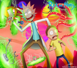 .:Rick and Morty's Fucking Universe:. (Commission) by The-Butcher-X