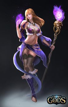 Female Sorceress by Jackiefelixart