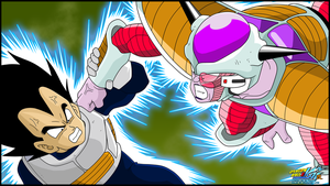 Vegeta VS Freezer by Sauron88