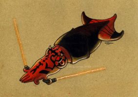 Darth Maul Squid II by MegLyman