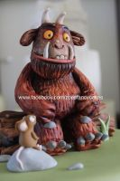Gruffalo cake topper close up by zoesfancycakes
