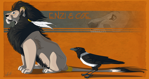 Enzi and Coe by shayfifearts
