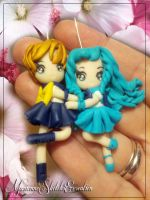 Sailor Uranus and Sailor Neptune by DarkettinaMarienne