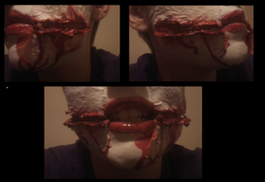 Jeff the Killer Cosplay - Mouth Makeup Practice by Shadow-Industries