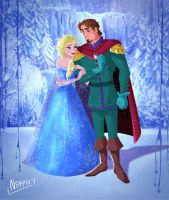 Elsa and her Prince by Nippy13