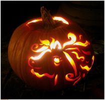 Flaming Horse Pumpkin by BethMcBeth