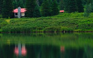 Cabin in the woods by JWFisher