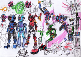 MMZ concept characters by henya66