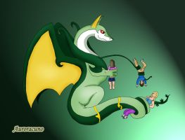 Serperior Dragon's New Servants by Auroracuno