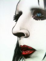 Another marilyn manson portrait by evelynsixx