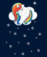 Aurora Sleeping on a Cloud by Angelkitty17