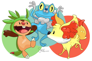 6th Gen Starters by TinySkye