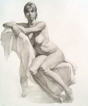 Long Figure Drawing - Female by apathie