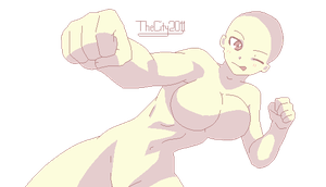 Kickass Fighter Girl Base by worthlessant