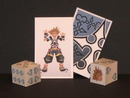 Sora Card and Dice Papercraft by Tektonten